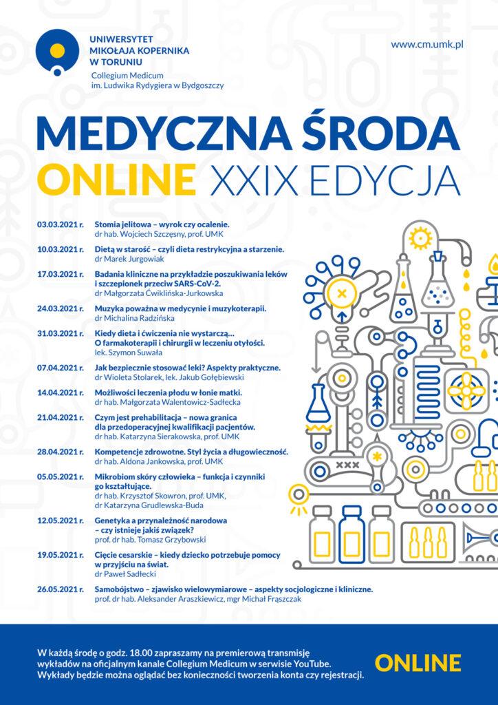 Plakat Medyczna Środa XXIX edycja - program